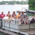 family on rental pontoon in richmond