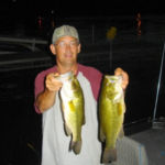 two bass at night