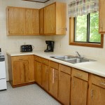 kitchen counters with sink and stove