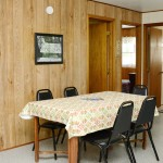 wood paneling in kitchen