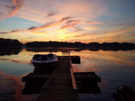 Sunset image on a dock